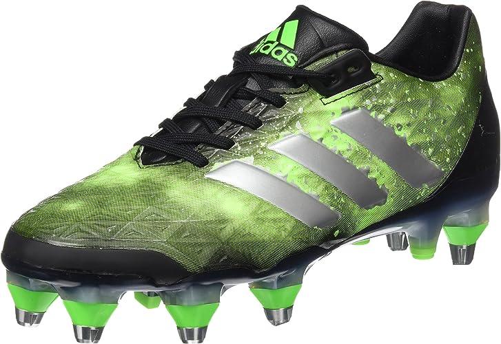 Adidas Adipower Kakari SG Chaussures de Rugby pour Homme, Noir (Negbas Plamet Versol) 40
