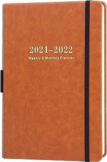 2019-2020 برنامه ریز آموزشی Academic Planner - برنامه ریز هفتگی و ماهانه با تابلوچسبها تقویم، کاغذ A5 Premium Thicker با قلم دارنده، Inner Pocket و 88 Notes Page