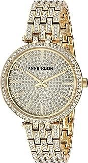 Anne Klein Women's AK/3320PVGB Swarovski Crystal Accented Gold-Tone Bracelet Watch