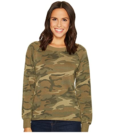 Alternative Burnout French Terry Lazy Day Pullover (Camo) Women