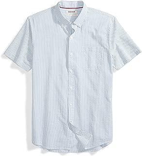 Amazon Brand - Goodthreads Men's Standard-Fit Short-Sleeve Seersucker Shirt