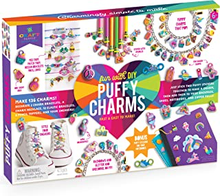 Craft-tastic – Fun with DIY Puffy Charms – Jewelry Making Kit Creates 136 Charms for Bracelets, a Necklace, Pencil Topper...