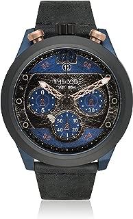 Timecode Moon 1969 TC-1015-03 46mm Men's Watch Vintage BLUE dial BLACK strap Date Chronograph