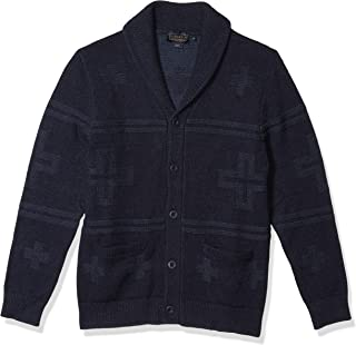 Men's Cross Motif Cardigan Sweater