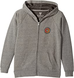 VISSLA Kids - Founded Full Zip Hooded Fleece (Big Kids)