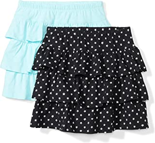 Spotted Zebra Girls' 2-Pack Knit Ruffle Scooter Skirts