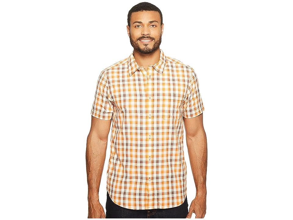 The North Face Short Sleeve Getaway Shirt (Tibetan Orange Plaid (Prior Season)) Men