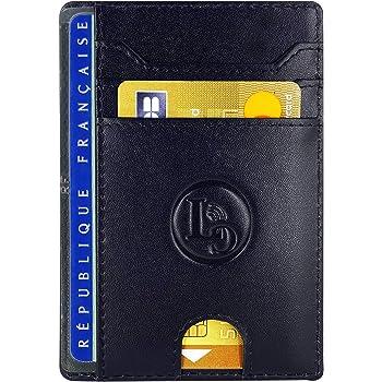 Porte-Monnaie int/égr/é avec Zip Ebook Offert Poche /à Billet Inclus HUYAMI/® Portefeuille Cuir Ultra Fin Jusqu/'/à 7 Cartes bancaires. Blocage et S/écurit/é Anti RFID