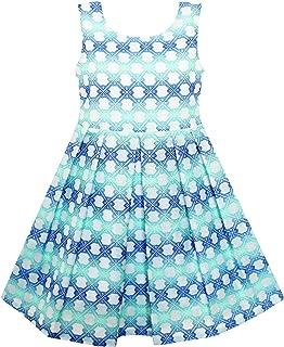 こどもドレス 女の子ドレス ストライプ - チェック柄ドレス 市松 色 ブロック 125/130/140/150/160cm