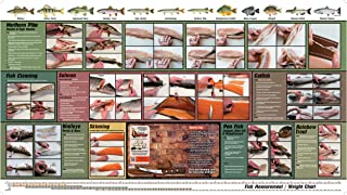 Harold Import Company 578 Dummy Thin Flexible Cutting Board Mat with Instructions for Cleaning and Filleting Fish, 36 by 20-Inches, Brown