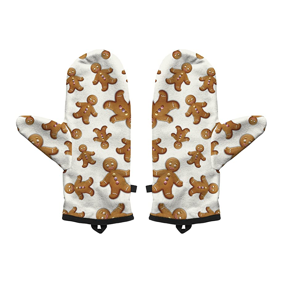 Fringoo Baby Boys' Winter Mitten Warm Gloves Cosy Windproof Christmas Pug Cat Small / Medium Gingerbread