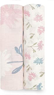 aden + anais Silky Soft Swaddle Blanket   100% Bamboo Viscose Muslin Blankets for Girls & Boys   Baby Receiving Swaddles  ...