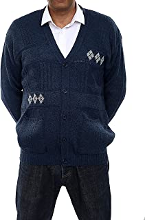 Classic Style Argyle Pattern Button Cardigan Mens Jumper Long Sleeve and Sleeveless Regular Fit