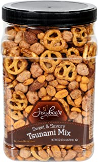 Jaybee's Mixed Nuts Sweet & Savory Tsunami Mix (2 lb) - Smoked Almonds, Pretzels, Toffee Peanuts, Spicy Peanuts, Honey Roasted Peanuts, - Perfect Snack to Share