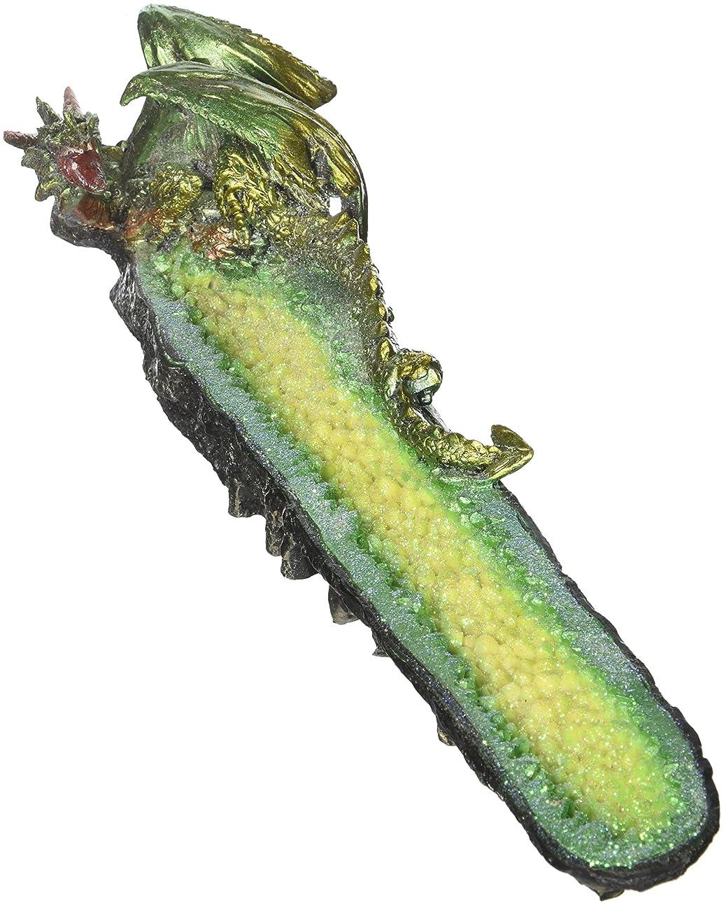 偉業山積みの呼び起こすGreen Dragon Cystal Incense Burner (EA)