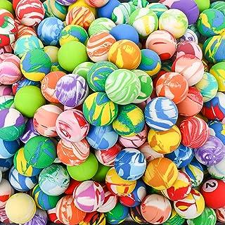 Totem World 250 Bouncy Balls - 27mm Assorted Swirl Bounce Balls - Bulk Pack for Kids Birthday Party Favor Supplies, Easter Eggs, Stocking Stuffer