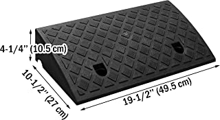GNB Industry Curb Ramp Portable Lightweight Heavy Duty Plastic Threshold Ramp for Driveway, Loading Dock, Sidewalk, Car, Truck, Scooter, Bike, Motorcycle and Wheelchair Mobility
