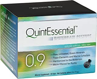 QuintEssential 0.9 - Liquid Mineral Electrolyte + Trace Mineral Replenishment, Raw Unheated Ocean Minerals Hydration Drink...
