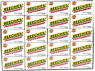 Beechies Peppermint Gum - 100 Boxes of Gum - Each Box Has 2 Pieces of Gum