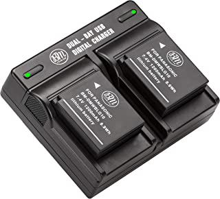BM 2-Pack of DMW-BLG10 Batteries and Dual Battery Charger for Panasonic Lumix DC-ZS80 DC-GX9 DC-LX100 II DC-ZS200 DC-ZS70 DMC-GX80 DMC-GX85 DMC-ZS60 DMC-ZS100 DMC-GF6 DMC-GX7K DMC-LX100K Cameras