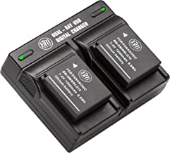 BM 2-Pack of DMW-BLG10 Batteries and Dual Battery Charger for Panasonic Lumix DC-ZS80 DC-GX9 DC-LX100 II DC-ZS200 DC-ZS70 DMC-GX80 DMC-GX85 DMC-ZS60 DMC-ZS100 DMC-GF6 DMC-GX7K DMC-LX100K Cameras
