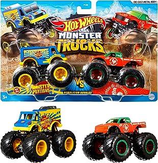 Hot Wheels FYJ64 Monster Trucks Demo Doubles 2-Pack (Styles May Vary)