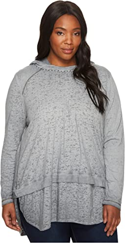 Plus Size Magna Hoodie in Burnout Jersey