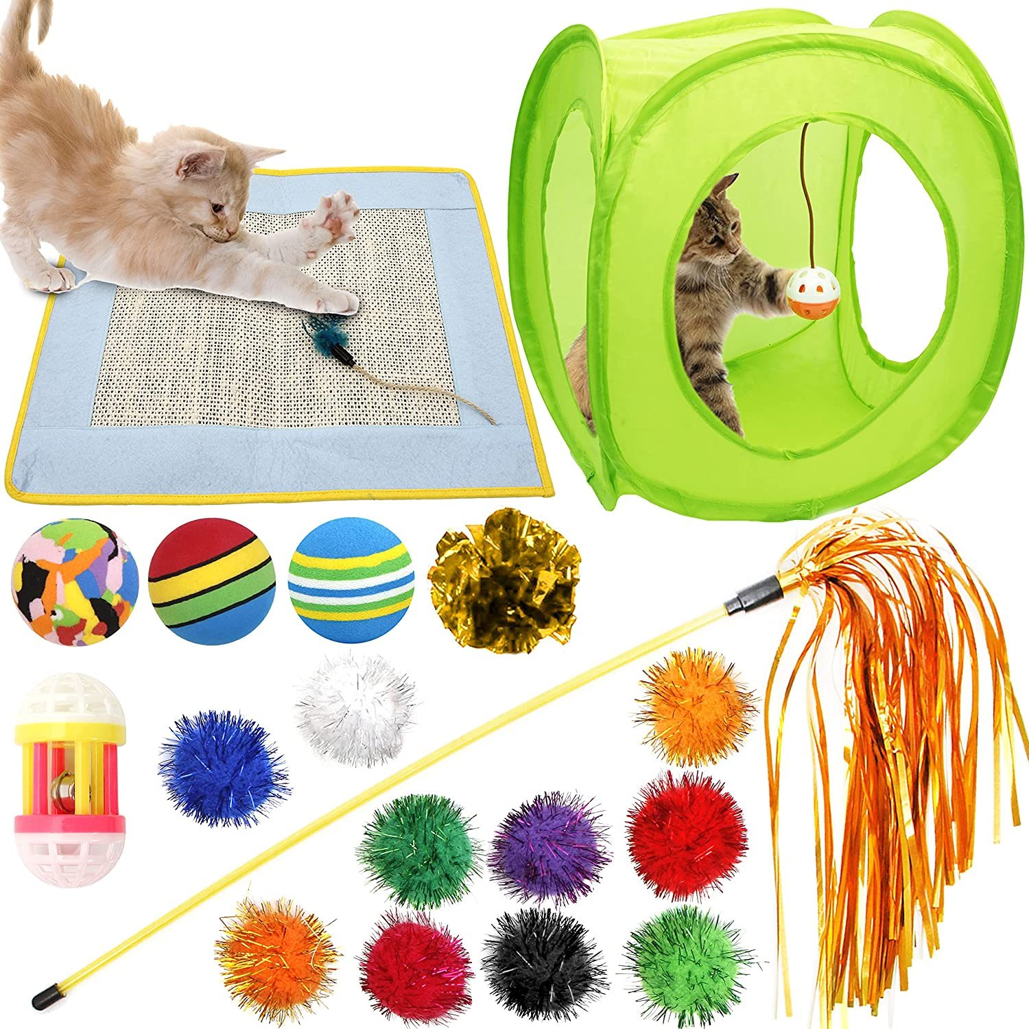 low-pricing Youngever 18 Cat Brand new Toys Kitten S Scratching Assortments Mat