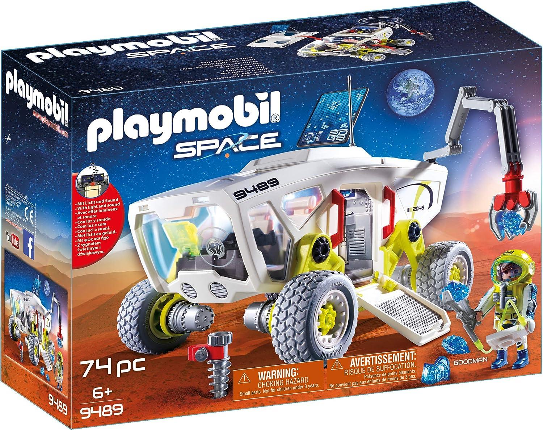 + Veh/ículo Espacial Juguete A Partir de 6 a/ños 9488 geobra Brandst/ätter 9491 Multicolor PLAYMOBIL Space Cohete con Plataforma de Lanzamiento