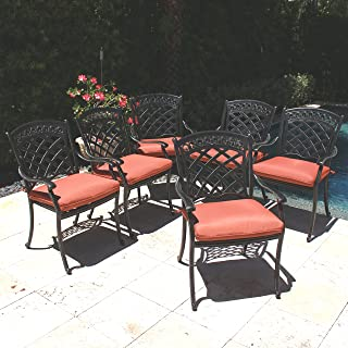 d255af02678 Amazon.com  Cast Aluminum - Patio Dining Chairs   Chairs  Patio ...