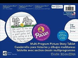 Pacon  Handwriting Paper, D'Nealian Grades 1-3 / Zaner-Bloser Grade 2, 1/2