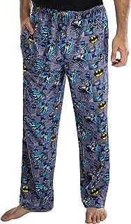 DC Comics Adult Classic Batman Comic Allover Print Loungewear Pajama Pants for Men