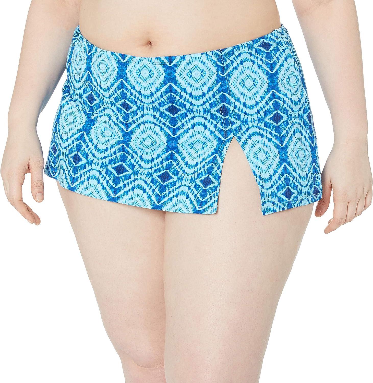 Bleu Rod Beattie Women's Plus-Size Solid Skirted Hipster Bikini Bottom