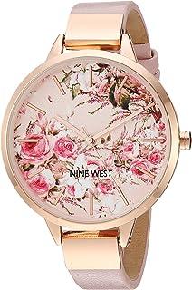 Nine West NW/2176 - Reloj con correa de esfera floral, para mujer