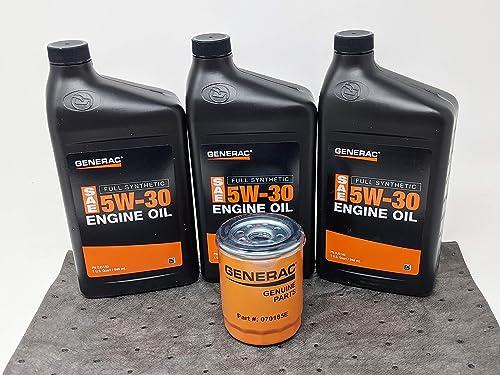 popular Generac (3 sale outlet online sale Quarts) 5W-30 Full Synthetic Oil Change Kit online