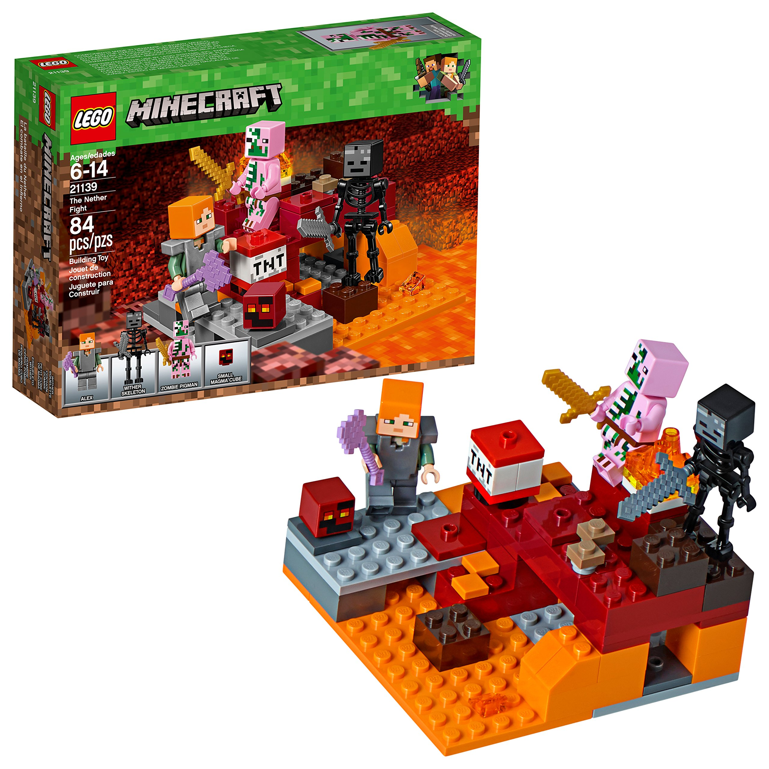 LEGO Minecraft The Nether Fight 10 Building Kit (10 Piece