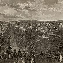 Washington D.C. 1844 old panoramic birds-eye view engraved print