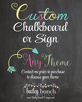 Custom Childs Milestone Birthday Chalkboard, MOUNTED & READY TO BE DISPLAYED or Print to be