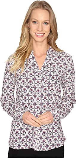 Roan Shirt in Printed Rayon