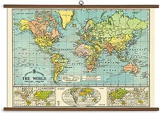 Cavallini Papers World Map Vintage School Chart