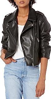 The Drop Women's Heather Faux Leather Moto Jacket