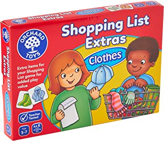 Orchard Toys Shopping List Extras Pack Clothes Game, Multi-Colour, 091