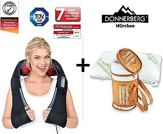 Donnerberg® Masajeador Shiatsu - Masajeador de Cuello Hombros Espalda Cervical con calor Infrarrojos + Almohada cervical Viscoelástica