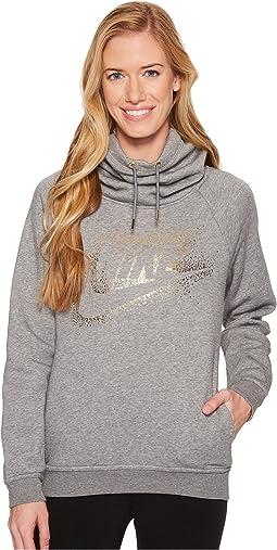 Nike - Sportswear Rally Metallic Funnel-Neck Pullover Hoodie