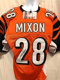 Joe Mixon Cincinnati Bengals Signed Autograph Orange Custom Jersey JSA Witnessed Certified