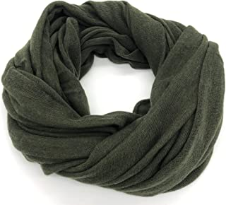 CM Tessuti Sciarpa 100% lana merino extrafine Donna/Uomo Autunno/Inverno Avvolgente leggera e di qualità Tubolare in magli...