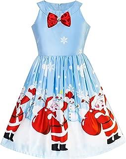 Girls Dress Christmas Eve Christmas Tree Snow Reindeer Party