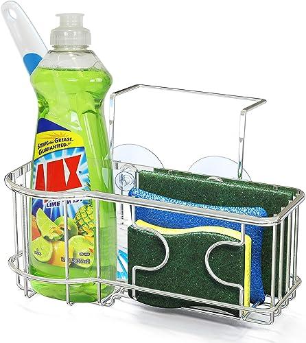 popular SimpleHouseware Kitchen Sink discount Caddy Organizer outlet sale for Brush Sponge Holder, Chrome outlet online sale