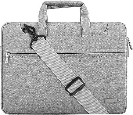 MOSISO Laptop Spalla Borsa Compatibile 13-13,3 Pollici MacBook PRO, MacBook Air, Notebook, Poliestere Valigetta Custodia Manica Cover Caso con Cintura Posteriore per Valigia Trolley, Grigio Chiaro
