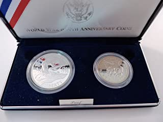 1993 World War 2 50th Anniversary Coins Proof Two Coin Set Mint State